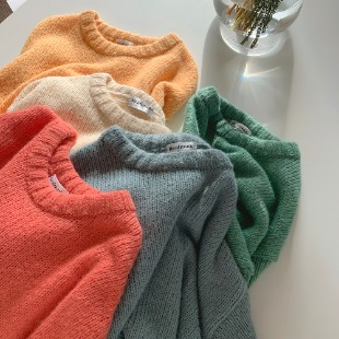 [REAL KNIT/alpaca8%] 보송알파카 - knit ( 36,000 → 28,000 won )